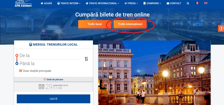 CFR Călători informează că, de la începutul acestui an, a deschis vânzarea online pentru bilete de călătorie internațională.