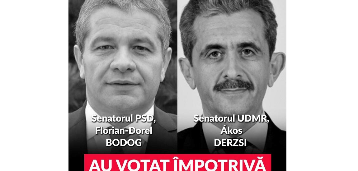 Senatorii de Bihor, Florian Bodog si Akos Derszi, printre cei care au respins Proiectul de lege care prevede majorarea alocațiilor pentru copii la 200 de lei