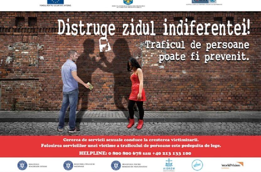 A.N.T.I.P lanseaza campania nationala de prevenire a traficului de persoane  în scopul exploatării sexuale