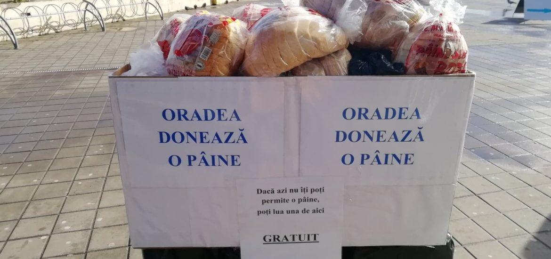 Oradea doneaza o paine 2.0. Oradenii au donat, din nou, paine celor mai putin favorizati dintre noi