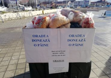 """Proiectul """"Oradea doneaza o paine"""" continua cu editia a VIII-a. Painile ramase, din editia trecuta, au ajuns la centrul Dumbrava"""