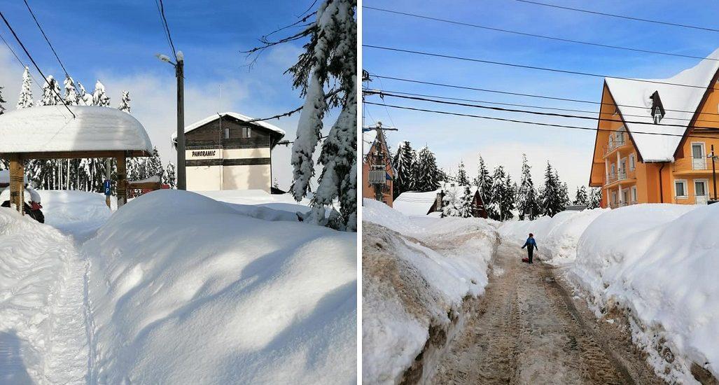 Satul de vacanta Vartop este sufocat sub 3 m de zapada, iar autoritatile nu fac nimic, in timp de cabanierii se plang ca turistii anuleaza rezervarile (FOTO)