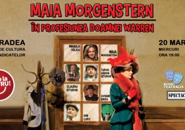 """Maia Morgenstern sosește în Oradea, miercuri, 20 martie, cu piesa """"Profesiunea Doamnei Warren"""""""