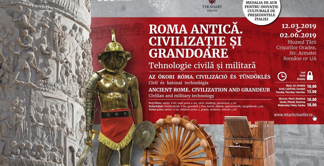 "Expozitie inedita la Muzeul Tarii Crisurilor. ""Roma antica. Civilizatie si grandoare"""