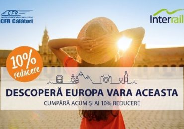 Călătorii cu trenul în Europa – Reduceri de 10% la oferta Interrail Pass