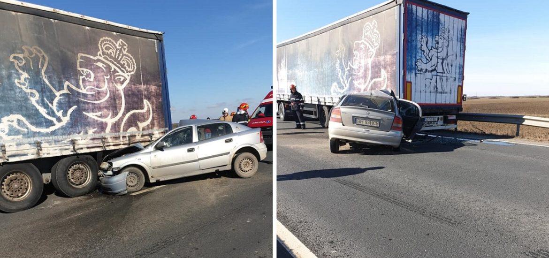 Accident in Ciumeghiu, dupa ce un sofer a vrut sa depaseasca  un TIR