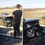 Accident la intrarea in Beius. O tanara a provocat accidentul, dupa ce a facut un viraj pe linie continua
