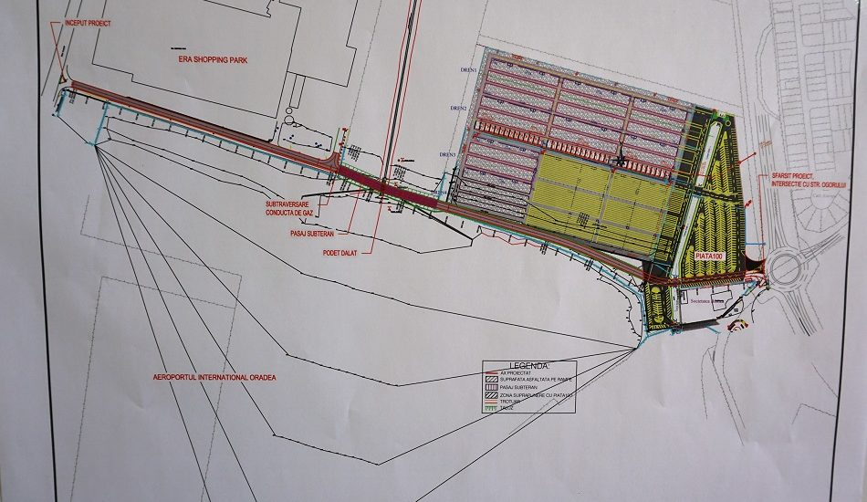 Drum nou de legatura, acoperit cu tabla si pamant, intre DN 79 si Centura Oradea