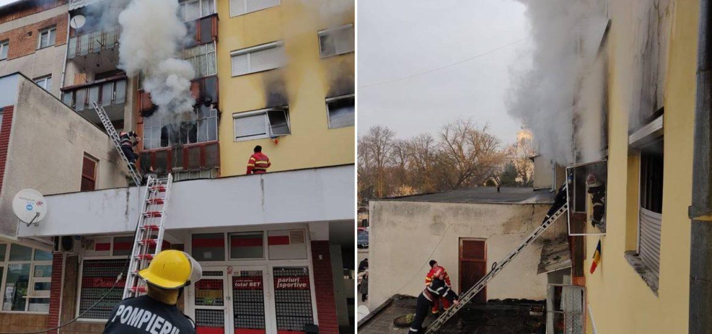 Femeie ranita grav intr-un incendiu produs in municipiul Beius