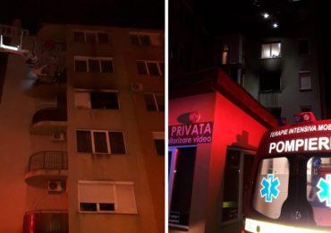 Incendiu in aceasta dimineata in Oradea. Un tanar de 25 de ani a sarit de la geam pt a se salva