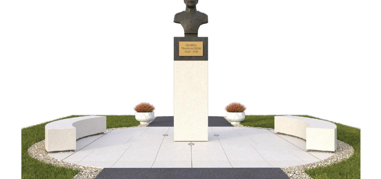 Astazi au inceput lucrările de reabilitare a statuii Generalului Traian Moșoiu
