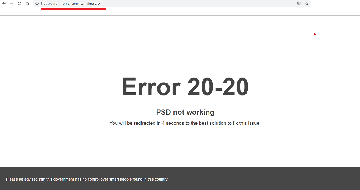 Error 20-20 – PSD not working