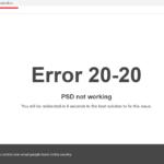 """Error 20-20 – PSD not working"". Liberalii au umilit PSD in online, cumparand domeniul cu numele sloganului de campanie al PSD"