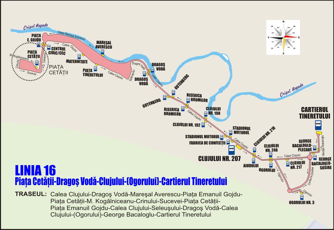 chita traseu Linia 16 la Piata Cetatii pe Crinului mai 2019