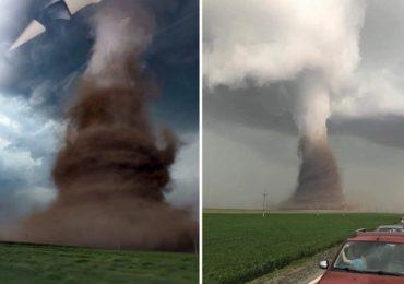 (Foto/Video) O tornada de gradul F1 s-a format ieri in zona Drajna. A rasturnat un autocar si a smuls stalpi electrici si acoperisuri de case