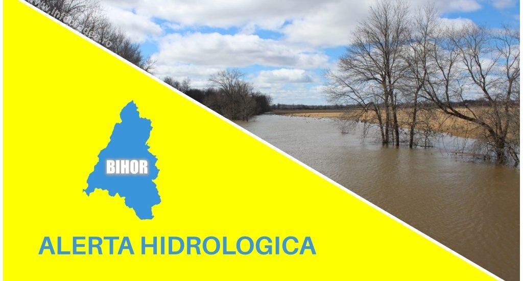 ALERTA Hidrologica de viituri rapide si inundatii locale imediate, in judetul Bihor, pe Crisul Repede