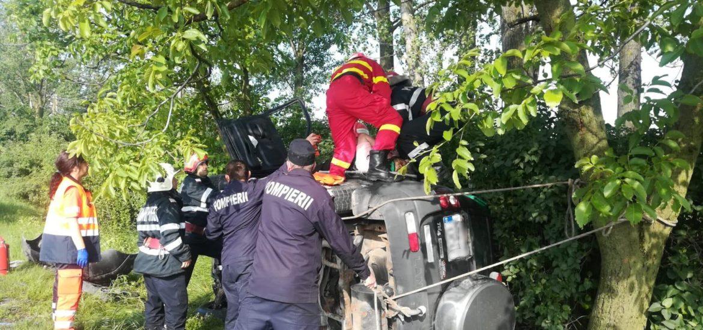 Accident grav in Salard, trei persoane, cu multiple leziuni, au ajuns la spital