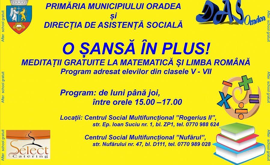 DAS Oradea: Masa calda si meditatii gratuite pentru copiii ce provin din familii cu dificultati financiare