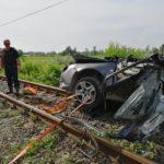 Accident mortal la o trecere de cale ferata langa Finis, judetul Bihor (FOTO / VIDEO)