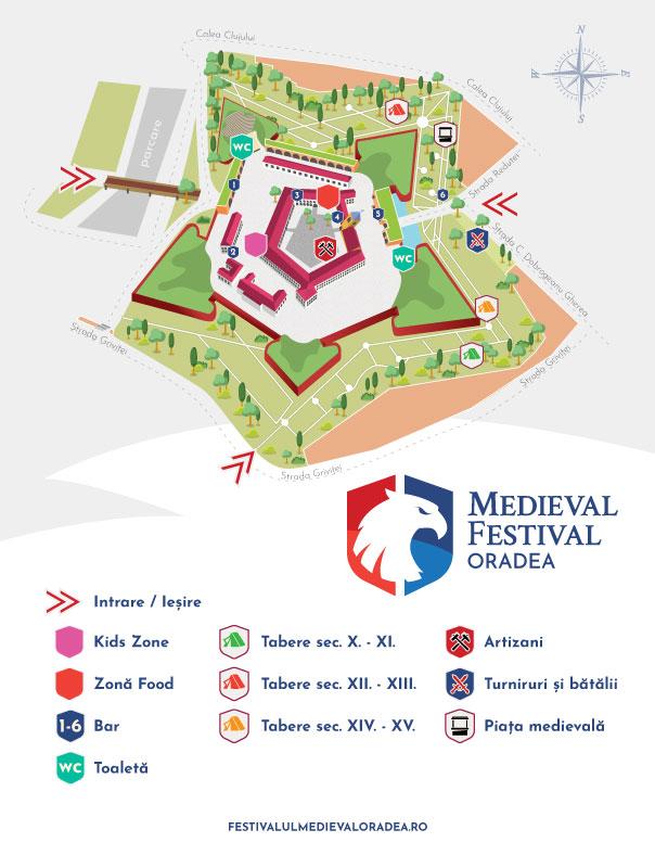 Harta Festivalul Medieval Oradea 2019