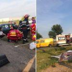 Accident grav langa Salonta, un barbat a ajuns la spital dupa ce masina in care se afla a fost proiectata in afara partii carosabile