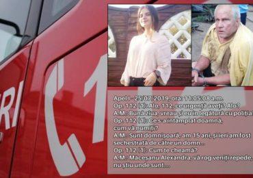 Stenograma completa a convorbirii telefonice dintre Alexandra si politistii de la 112