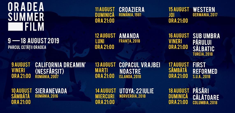 Incepe Oradea Summer Film 2019. Vezi programul complet