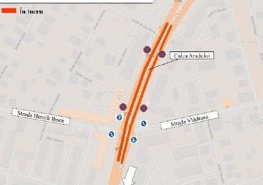 Noi restrictii de trafic rutier in Calea Aradului din cauza lucrarilor la linia de tramvai
