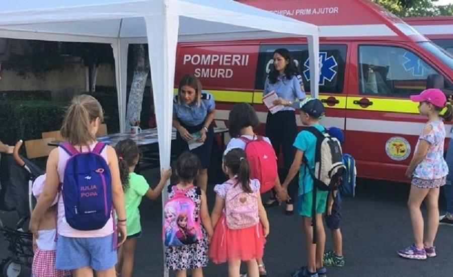 """Activități desfășurate de pompierii militari în cadrul Campaniei """"10 PENTRU SIGURANȚĂ"""""""