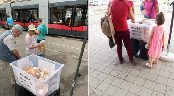 """Oradea doneaza o paine"" va fi din nou in strada, joi 26 septembrie, in locatiile deja cunsocute"