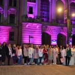 Ziua de Lupta Impotriva Cancerului de San marcata la Oradea, la inititiva OFL Oradea. Podul Centenarului si Primaria au fost iluminate in roz