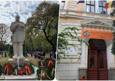 A fost dezvelita statuia lui Gojdu, la exact 100 de ani de la deschiderea primului liceu romanesc din Oradea