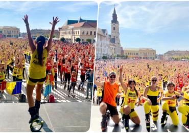 Kinga Sebestyen a pus România în Cartea Recordurilor. Peste 1500 de persoane au participat în Oradea la cea mai mare oră de Kangoo Jumps din Istorie