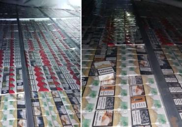 20.000 de pachete cu ţigări de contrabandă, descoperite ascunse într-un camion in vama Bors
