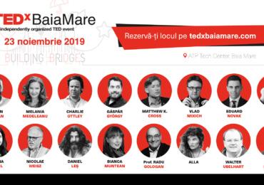"""TEDxBaiaMare, cel mai așteptat eveniment al comunității, revine în noiembrie cu o nouă ediție – """"Building Bridges"""""""