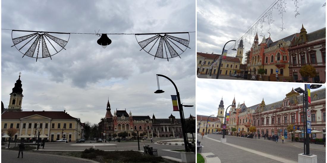 Vin sarbatorile! In Oradea a inceput montarea instalatiilor luminoase pentru sarbatorile de iarna