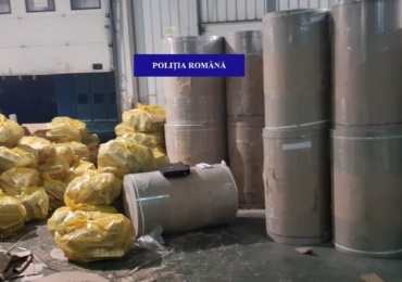 Captura impresionanta de tigari de contrabanda, facuta de politistii bihoreni la o firma din judetul Bihor