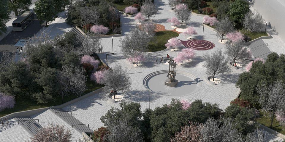 Proiectul reamenajarii Pietei Magnoliei (Ciresica) se afla in faza de licitatie. Cum va arata zona (foto)