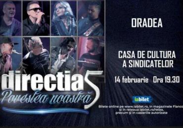 Directia 5 vine in concert la Oradea, vineri 14 februarie 2020