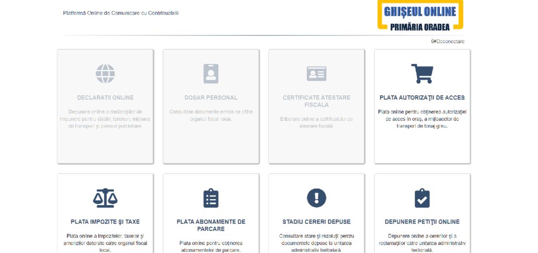 """Primaria Oradea a lansat """"ghiseul online"""". Toate serviciile primariei sub aceeasi platforma"""