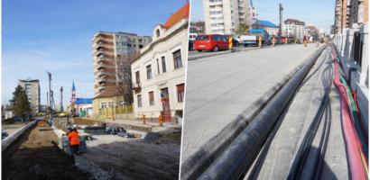 Lucrările la Pasajul B-dul Magheru, realizate în proporție de 40%, iar la Podul Dacia in proporție de 60%