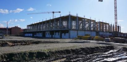 Noua sala Polivalenta din Oradea prinde contur. Stadiul lucrărilor executate până în acest moment este de 25%.