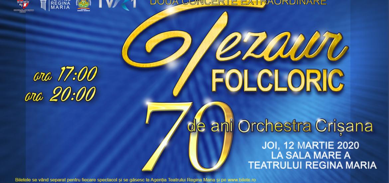 Tezaur Folcloric, 70 de ani de Orchestra Crisana in Oradea