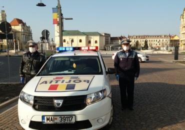 Controale tematice ale politistilor, la terase, targuri, piete si centre comerciale din judetul Bihor. Au fost date amenzi de peste 17.000 de lei