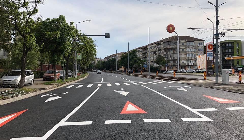 Calea Aradului a fost moderanizata, în urmalucrărilor de extindere a liniei de tramvai