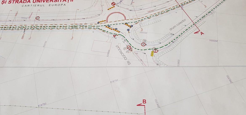 Circulatia pe Centura Oradiei va fi deviata. Se lucreaza la pasajul suprateran de langa cimitir