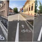 850 metri de pista noua de biciclete in Oradea.