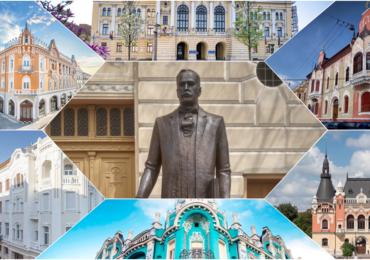 Statuia marelui arhitect oradean Rimanóczy Kálmán Jr a fost dezvelita in Oradea