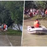 11 minori si un adult suprinsi, pe o insulita a Crisului Repede, de deverasarile de la barajul de pe Cris
