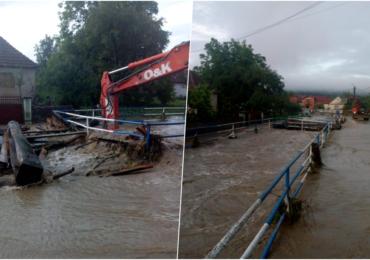 Inundatii in Bazinul Crisului Repede, la Pestis si Grosi. Codul portocaliu de inundatii este inca in vigoare